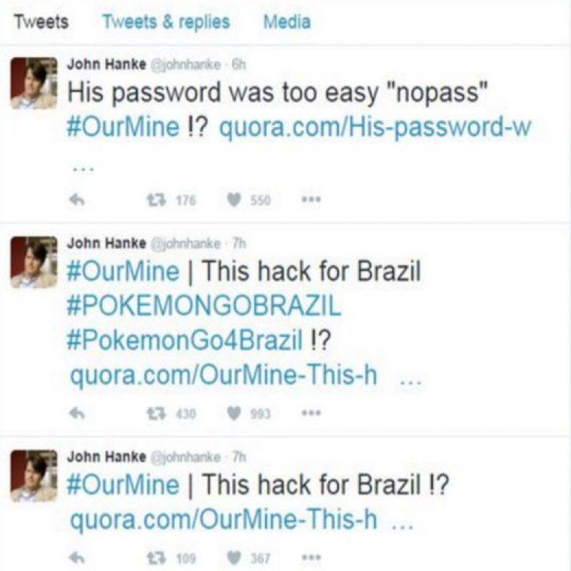 Twitter del CEO de Niantic hackeado por brasileños. Foto:Twitter