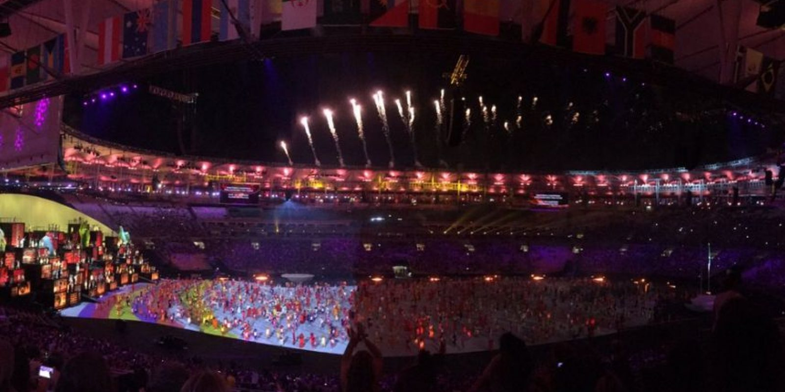 Las imágenes filtradas del último ensayo general de la inauguración de Río 2016 Foto:Twitter
