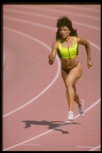 100 y 200 metros femeninos – Florence Griffith Joyner (Estados Unidos) – Seúl 1988 Foto:Getty Images