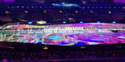 Imágenes filtradas del último ensayo de la ceremonia de inauguración Foto:Twitter
