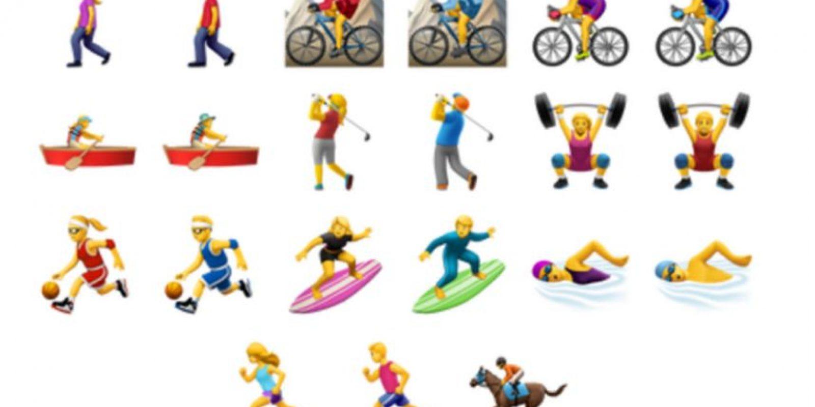 Además añadieron emojis mujeres. Foto:Apple