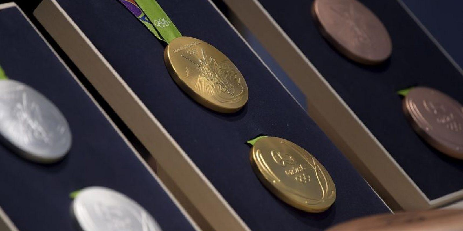 Las medallas siguen un controlado proceso de sostenibilidad y el oro utilizado no fue extraído con mercurio Foto:Getty Images