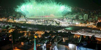 Así se vio la inauguración desde las favelas de Río Foto:Getty Images