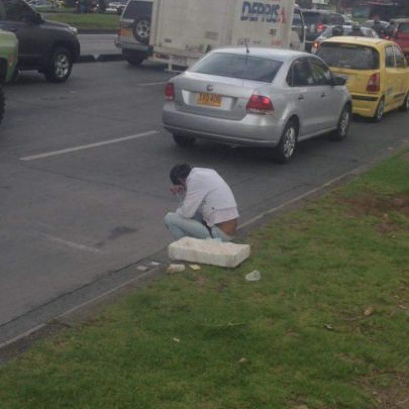 Acá está en la calle 85 con Autopista Norte según reportan usuarios en redes. Foto:Facebook 'Denuncien a Lagrimón'