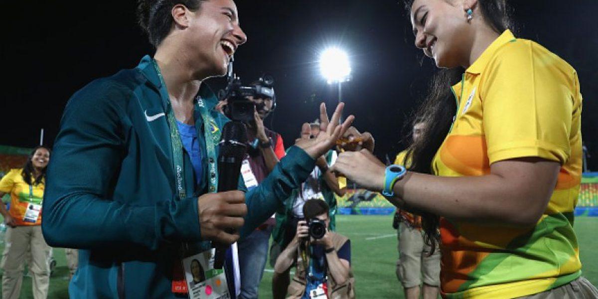 Pareja lésbica se comprometió en los Juegos Olímpicos de Río 2016