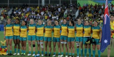 El equipo de rugby siete femenino se hizo con la medalla de oro al vencer 24-17 a Nueva Zelanda, en la final Foto:Getty Images