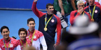 Además de ser el atleta más laureado en la historia de los Juegos Olímpicos, es el más ganador en una edición al sumar ocho oros en Beijing 2008 y superar los siete que consiguió Mark Spitz en Munich 1972 Foto:Getty Images