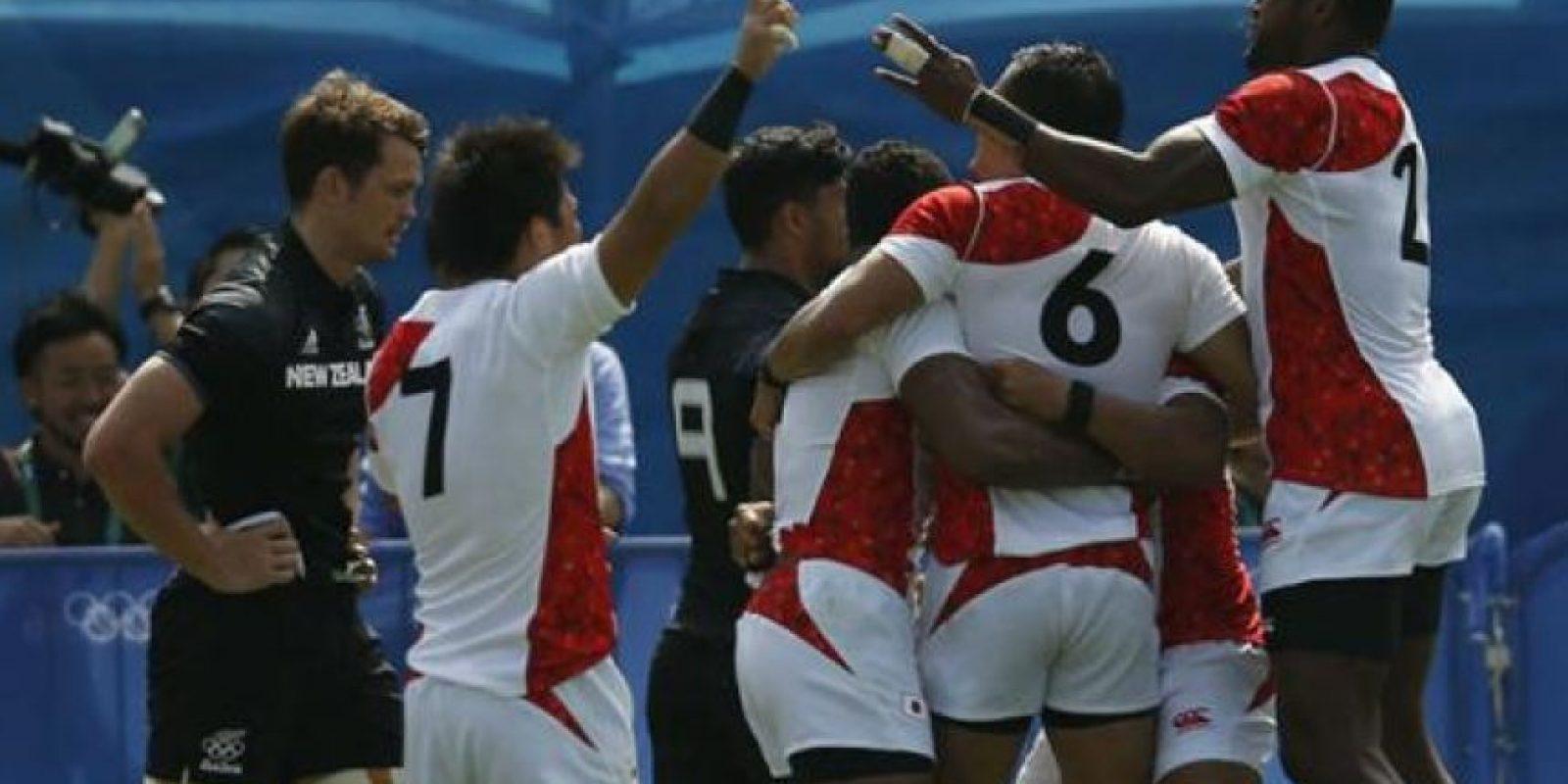 9. El combinado de Japón de rugby seven venció en la jornada inaugural 14-12 al faviorito Nueva Zelanda Foto:Getty Images