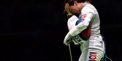 La esgrimista coreana Jeon Hee Sook Foto:Ines Boubakri