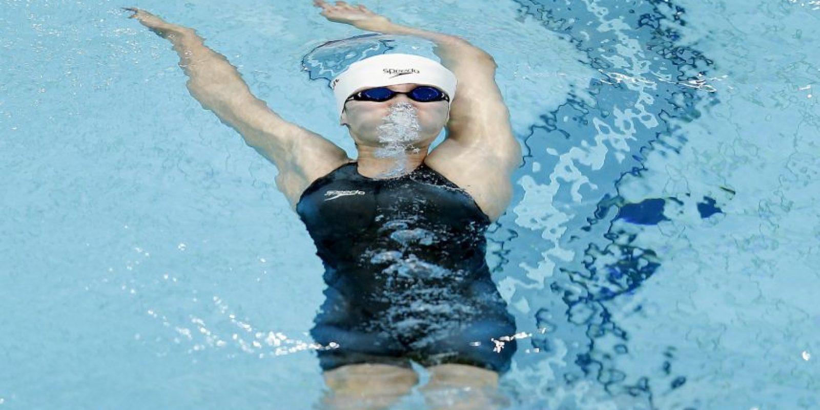 Aunque Fu ya había ganado el metal de bronce en 100 metros espalda femenino Foto:Getty Images