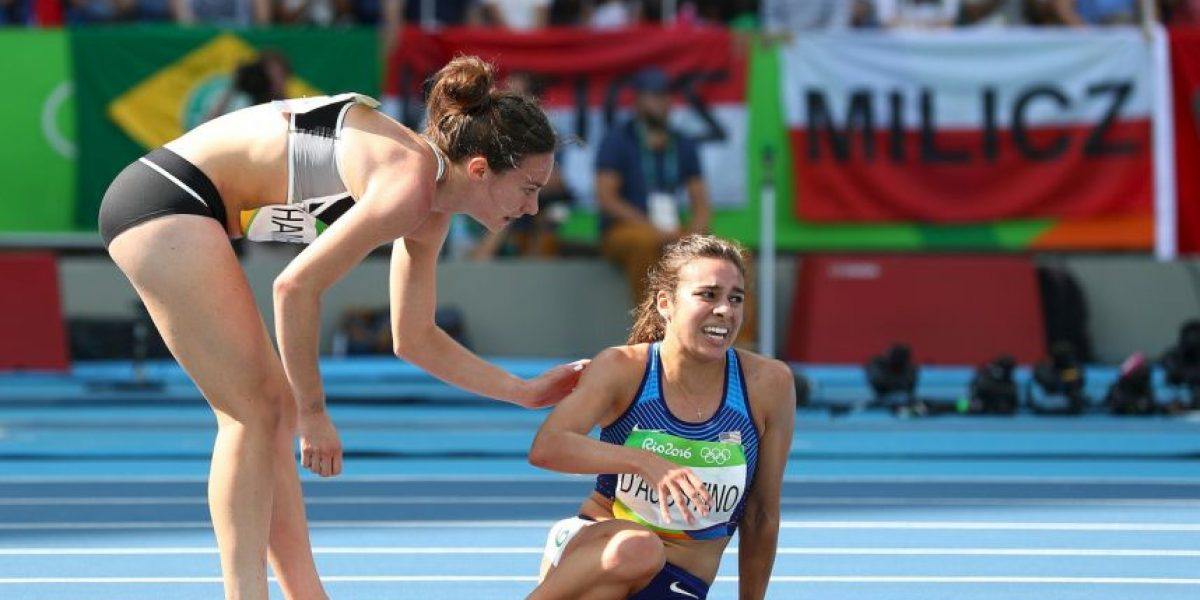 Dos atletas protagonizan la imagen más emotiva de Río 2016