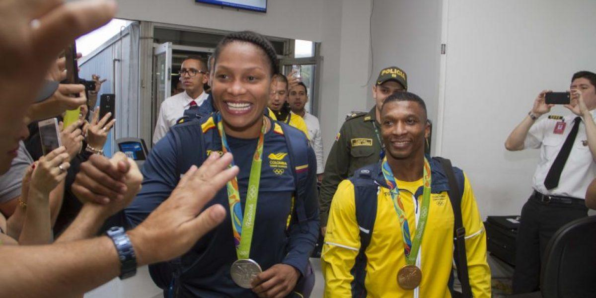 Fotos: así fue la llegada de los medallistas Yuri Alvear y Óscar Figueroa al Valle
