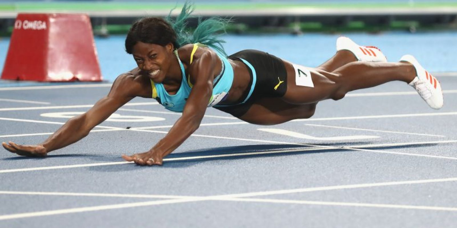 Tiene una medalla de oro, que ganó Shaunae Miller en los 400 metros planos Foto:Getty Images