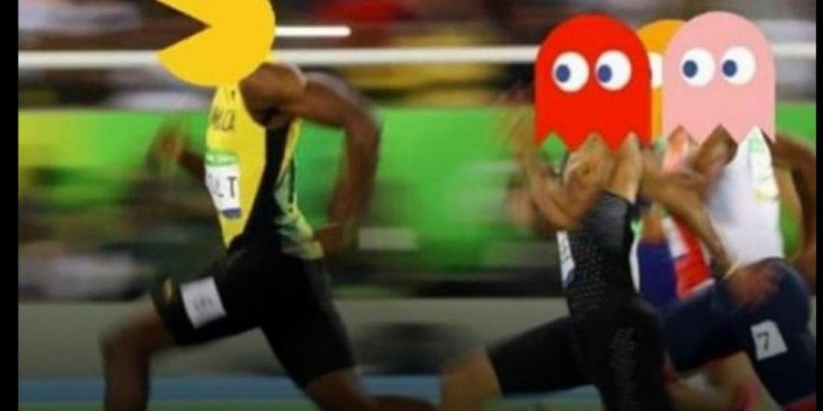 Usain Bolt y sus gestos al ganar, también se hicieron virales. Foto:Vía twitter.com