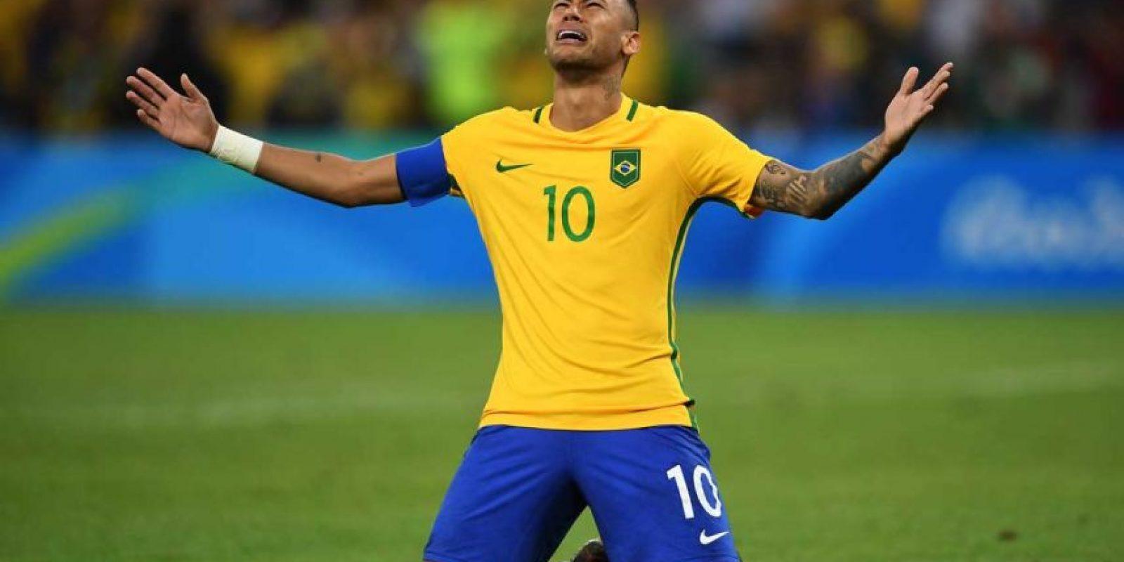 Brasil por fin pudo ganar la medalla de oro en fútbol en los Juegos Olímpicos. Foto:Getty Images