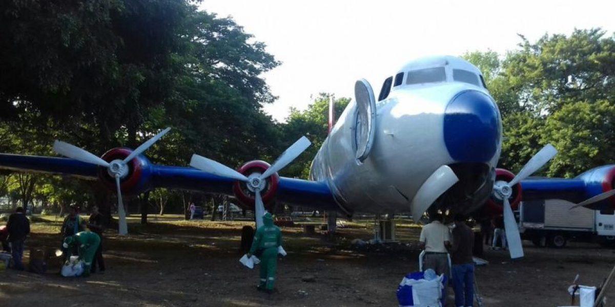 Antiguo avión de narcos se convierte en atracción en parque de Valledupar