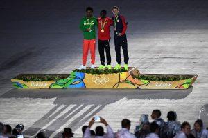 Fue condecorado con la medalla de plata durante la ceremonia de clausura de Río 2016 Foto:Getty Images