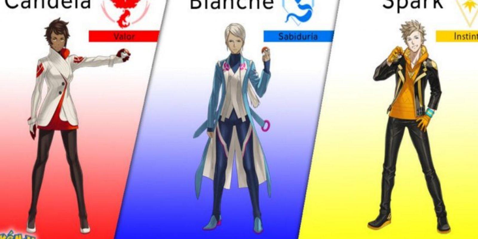 Ellos son los líderes de cada equipo. Foto:Pokémon