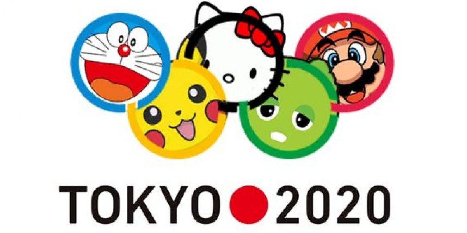 Varios íconos pop de Japón aparecieron. Hello Kitty.. Foto:Vía twitter.com