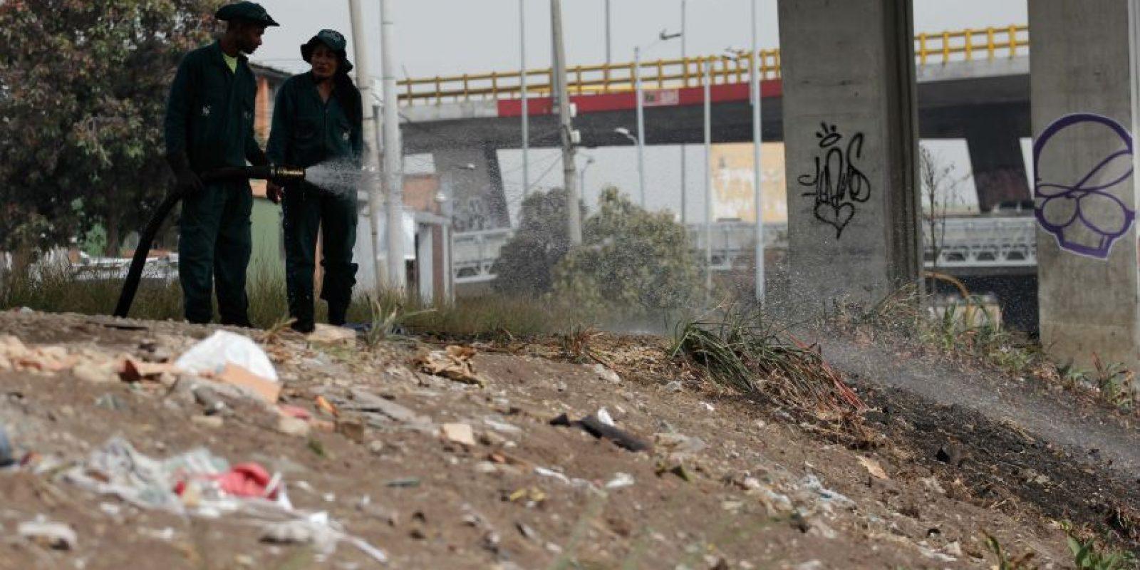 Habitantes de calle buscando entre la basura. Foto:Juan Pablo Pino-Publimetro
