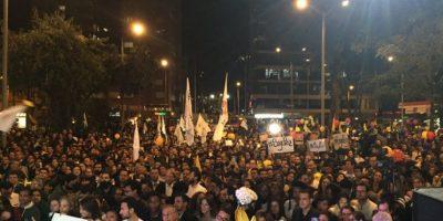 Así estuvo la gente en Bogotá. Foto:Twitter