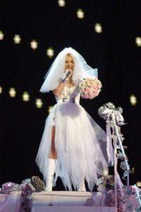 Misma presentación donde salió vestida como novia Foto:Getty Images