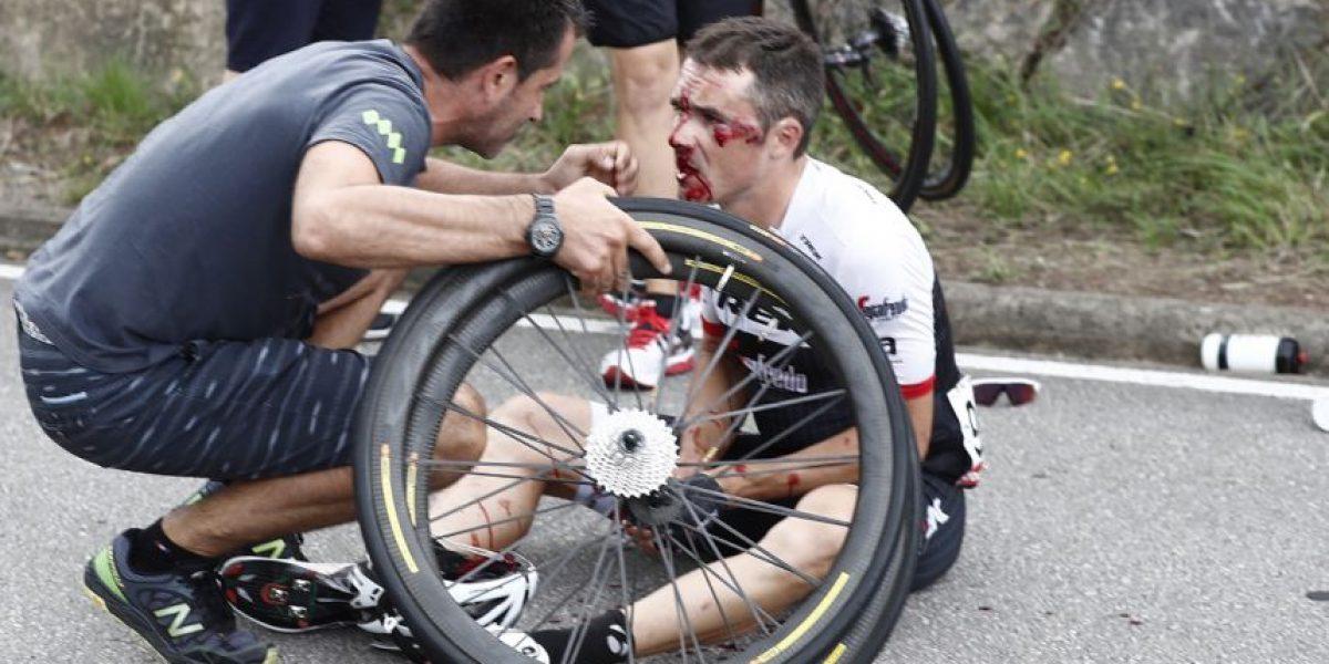 Fotos: Así fue la fuerte caída de ciclistas en la etapa 10 de la vuelta españa
