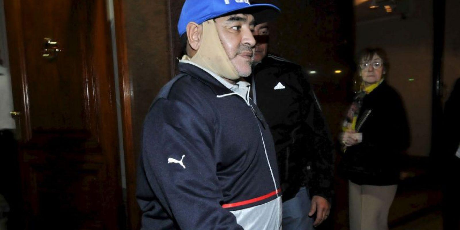 Así luce Diego Maradona después de su última cirugía. Foto:Grosby Group
