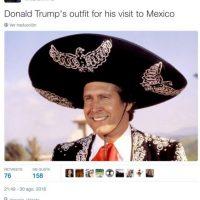 """El vestuario de Donald Trump para su visita a México"" Foto:Twitter.com"
