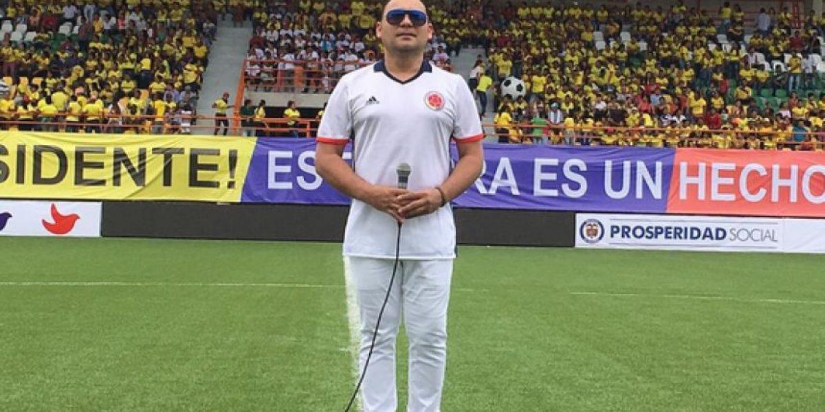 Jean Carlos Centeno cantará el hinmo nacional en el partido de Colombia-Venezuela