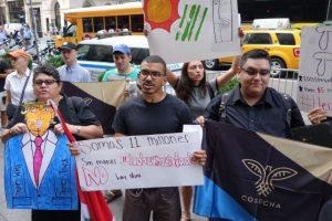 Manifestantes latinos se hicieron presentes Foto:AFP