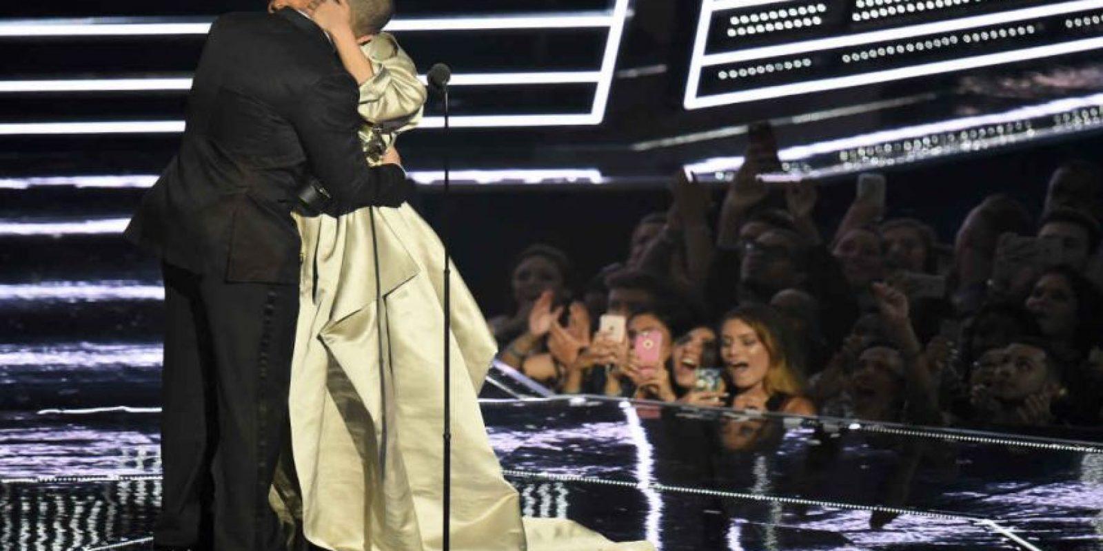 El famoso beso rechazado. Foto:Getty Images