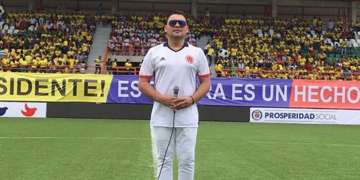 Así le fue a Jean Carlos Centeno cantando el Himno Nacional en el partido de Colombia vs. Venezuela