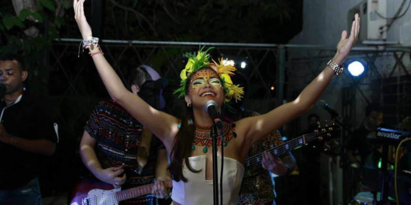 Karnivale interpretando 'El Bando', su próximo sencillo que se estará lanzando a finales de septiembre. Foto:Valerie Amor