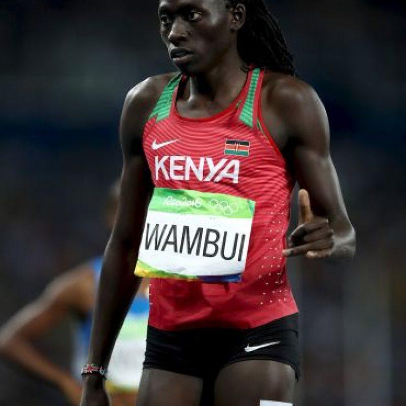 Y Margaret Wambui, ganadora de bronce en los 800 metros en Río 2016 Foto:Getty Images