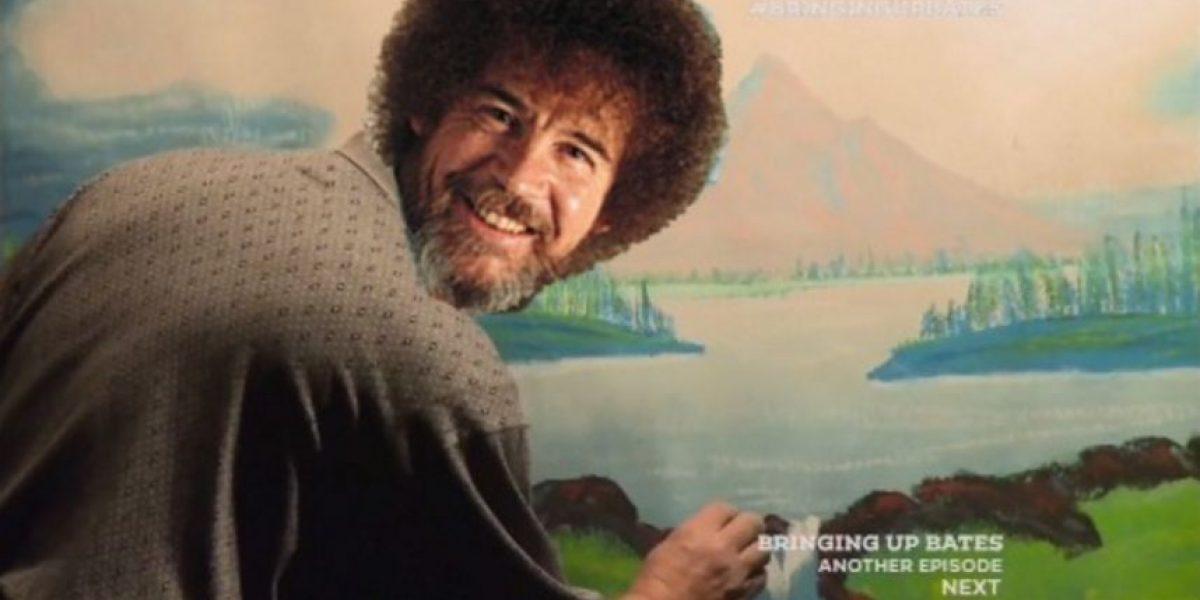 El afro del pintor Bob Ross era falso