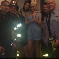 Los bomberos fueron a rescatarlas