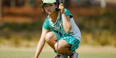 La estadounidense Lucy Li disputó el US Open, luego de ganar el Half Moon Bay a los 11 años Foto:Getty Images