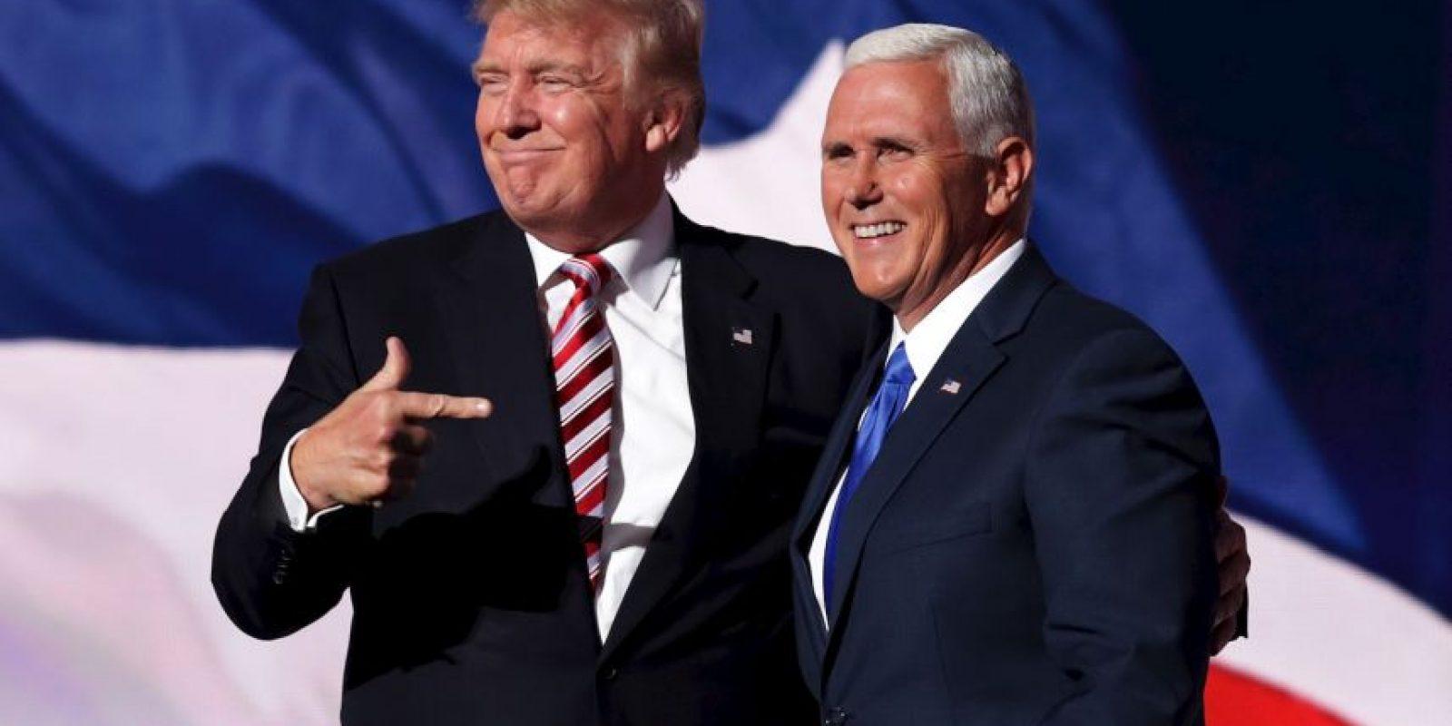 Es el compañero de fórmula de Donald Trump Foto:Getty Images