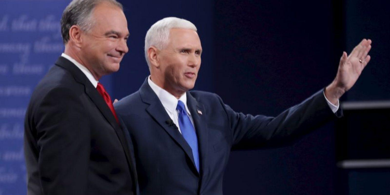 Anoche se realizó el único debate entre candidatos a vicepresidente de Estados Unidos Foto:Getty Images