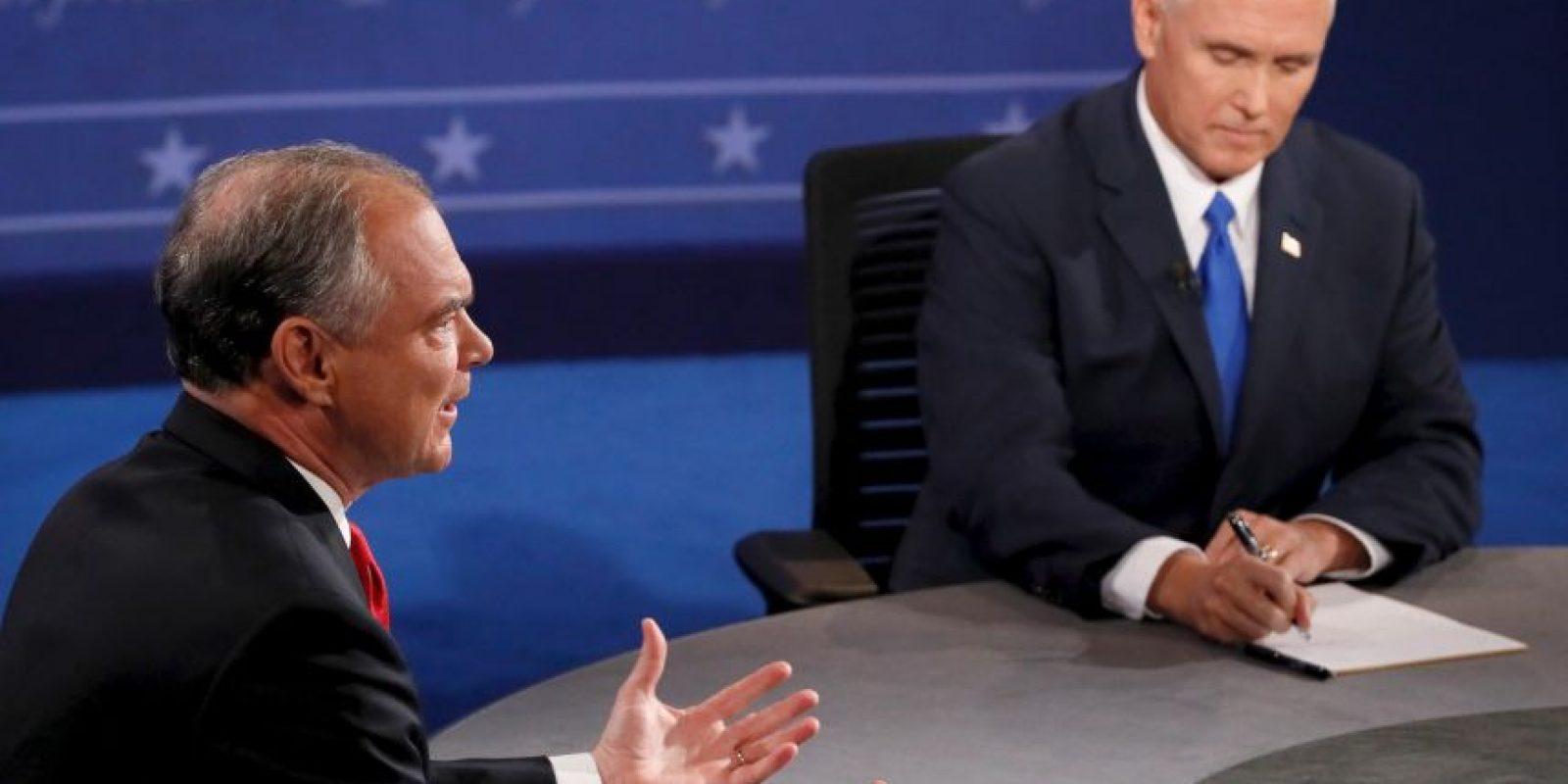 El ganador de la noche fue Mike Pence, candidato del Partido Republicano Foto:Getty Images