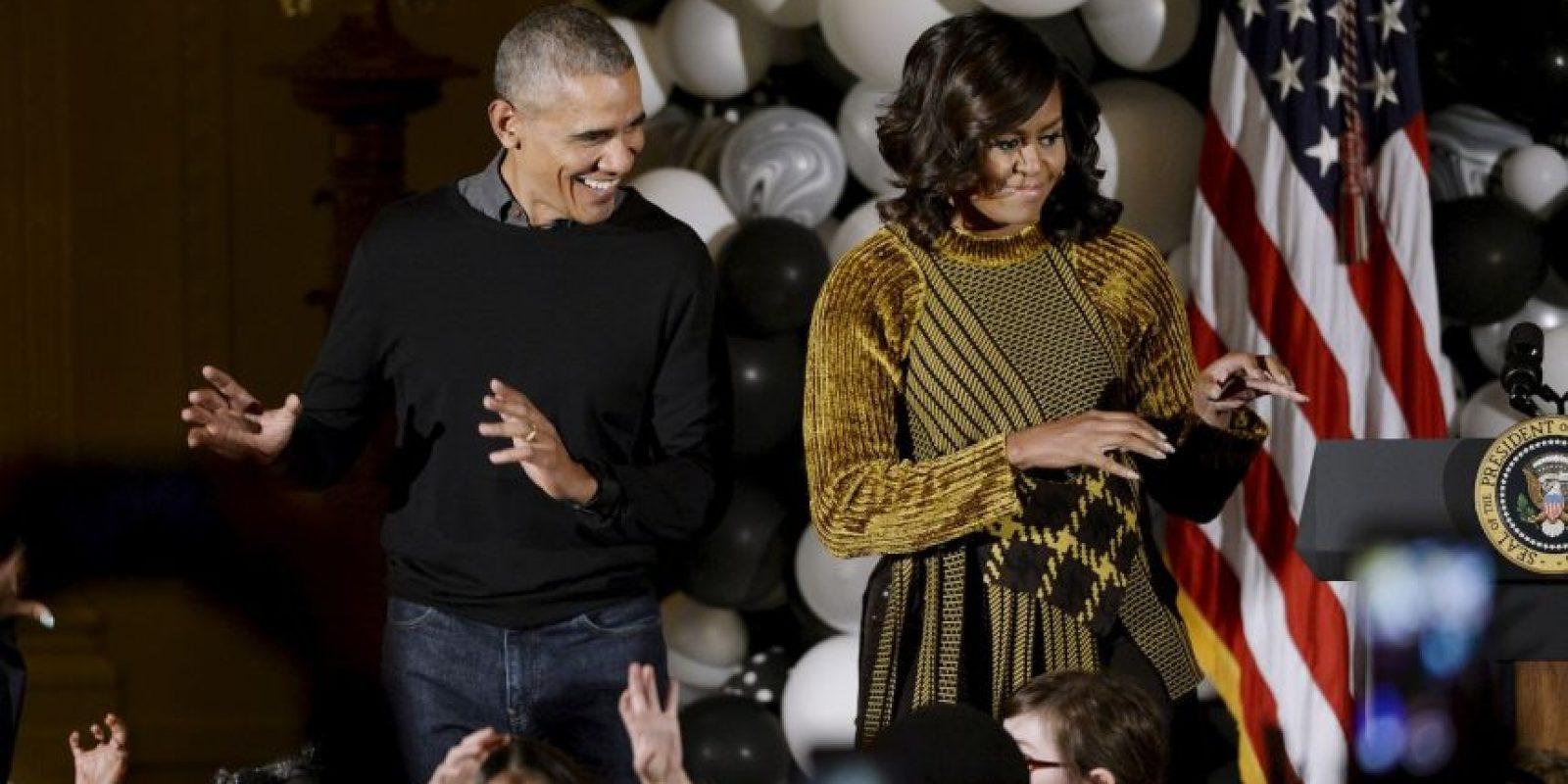 Fue en su última celebración de Halloween en la Casa Blanca