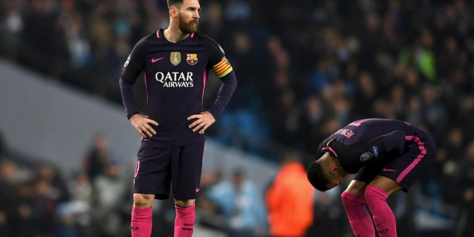 Luego de la derrota ante Manchester City, Lionel Messi se habría enfrentado con los jugadores locales. Foto:Getty Images