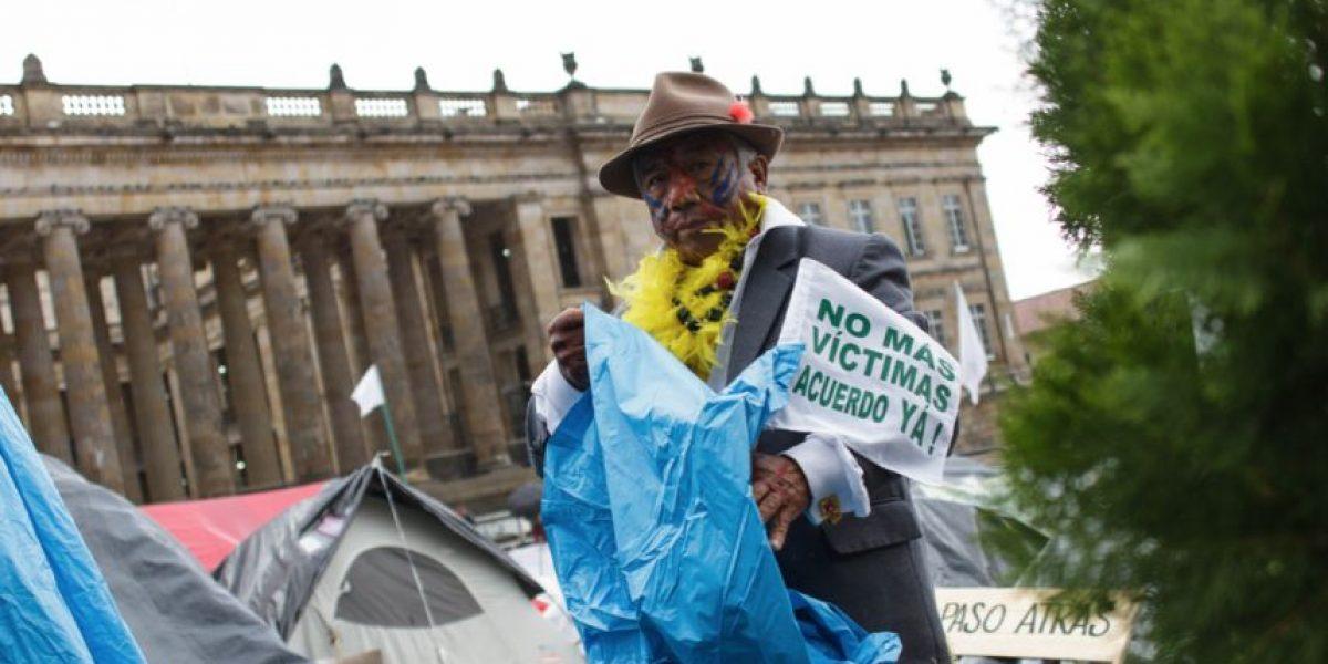 Campamento por la paz en la Plaza de Bolívar cumplió un mes en su propósito