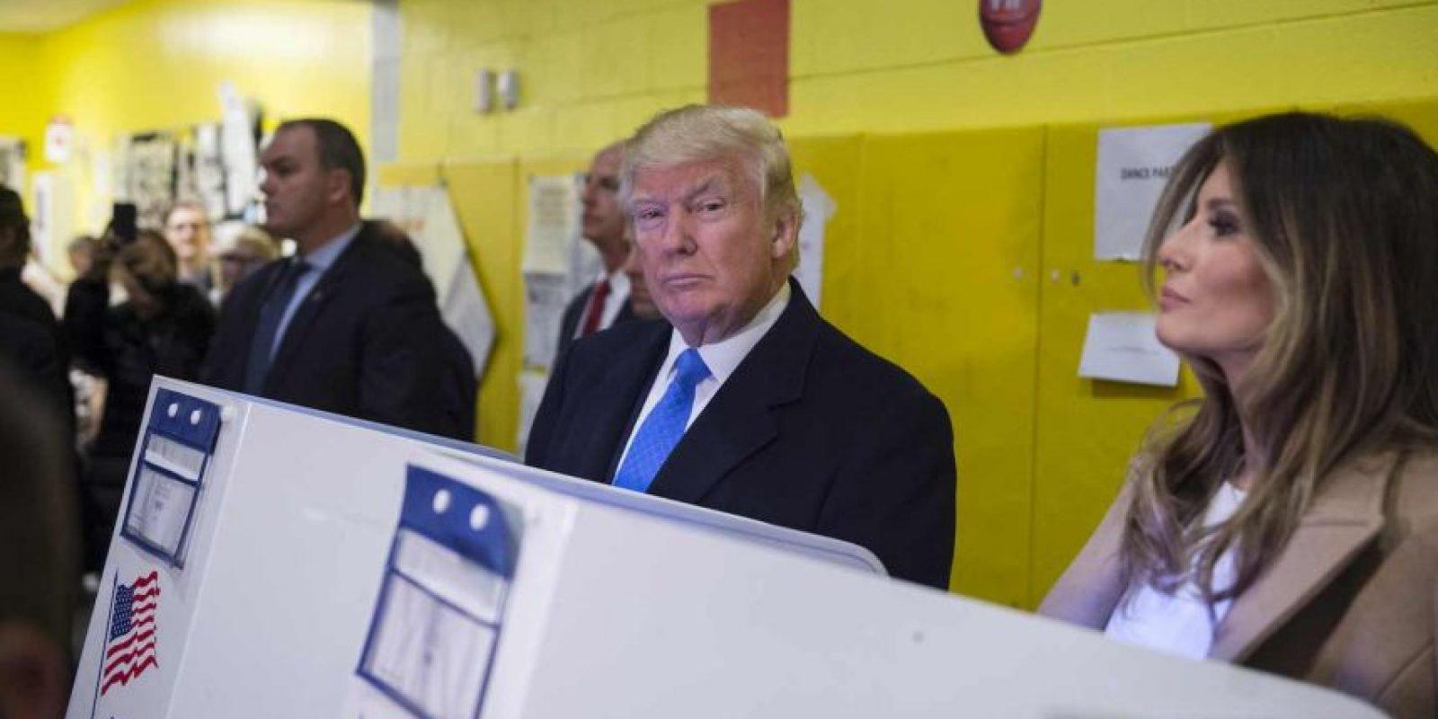 Estuvo acompañado de Melania Trump, su esposa Foto:AFP