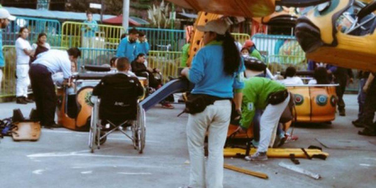 Accidente en Mundo Aventura dejó gravemente lesionados a varios menores