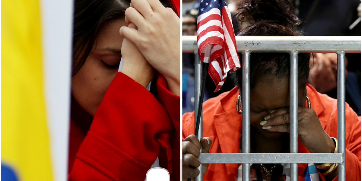 Los rostros de los colombianos el 2 de octubre y de los americanos el 8 de noviembre