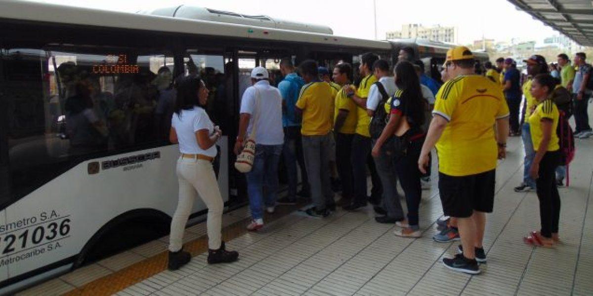 Operación de Transmetro y movilidad para el partido Colombia Vs Chile en Barranquilla