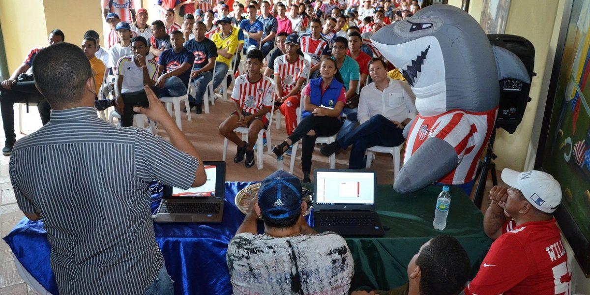 Barristas de Junior firman pacto de paz con la Alcaldía de Soledad, Atlántico