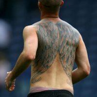 Stephen Ireland: el actual mediocampista de Stoke City tiene dos grandes alas que le cubren gran parte de la espalda. Foto:Getty Images